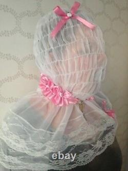 Lockable Slave Hood With Mouth Sleeve Sissy Adult Baby Fetish Cd/tv