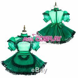 Lockable adult Sissy baby Satin dress Unisex CD/TV Tailor-made#1108