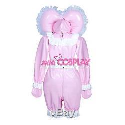 Lockable heavy PVC jumpsuits adult sissy baby Unisex costume Tailor-madeG3910/G3