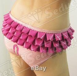 MAID SISSY LATEX BRIEFS Rubber Gummi TV/CD/Transvestite Knickers Gummihose Pants