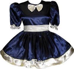 Madison Custom Fit Satin SAILORETTE Adult Little Girl Baby Sissy Dress LEANNE
