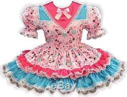 Minnie CUSTOM FIT Lacy Satin Adult Little Girl Baby Sissy Dress LEANNE