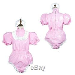 NEW Adult sissy baby PVC Romper vinyl Unisex tailor-madefree shipping