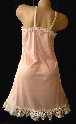 Neljen Adult SiSsy BaBy Fancy Vintage Slip Dress PINK Tricot from M-2XL