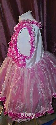 New adult style baby girl dress rustly sissy with underskirt so frilly silky