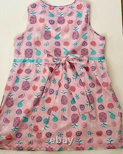 OOAK Adult Baby Sissy Pink Ribbons Bows Ric Rac Cotton Dress L