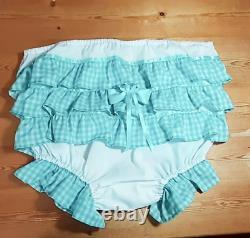 Pants Panties Undies Gingham Sissy Adult Baby Aunt D
