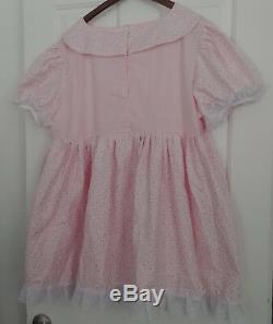 Pink N White Adult Baby Sissy Dress