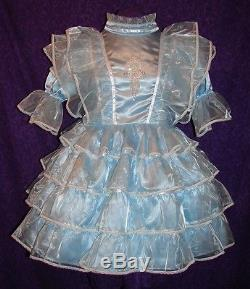 Precious Blue Adult Baby Sissy Dress Aunt D