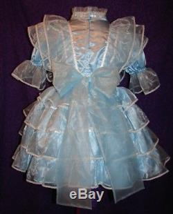 Precious Blue Sissy Lolita Adult Baby Dress Aunt D