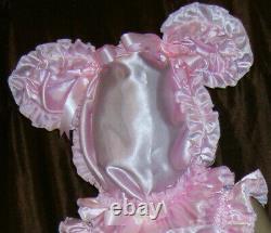 Prissy Sissy Maid Adult Baby CD/TV Baby Pink Cute Mincing Slave Hood