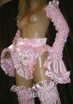 Prissy Sissy Maid Adult Baby CD/TV Baby Pink Elasticiated Arm & Leg Covers Set