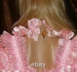 Prissy Sissy Maid Adult Baby CD/TV Lockable Whole Body Spanky Suit & Padlock