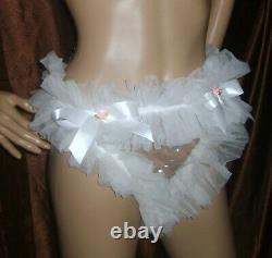 Prissy Sissy Maid Adult Baby CD/TV Seethough Plastic & NylonTanga style Panties