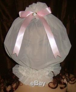 Prissy Sissy Maid Adult baby CD/TV Sheer See-through Nylon Mincing Slave Hood