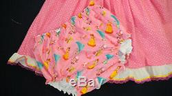 READY 2 SHIP Adult Baby Sissy Nintendo Princess Dress Set PUL Lined Diaper Cover