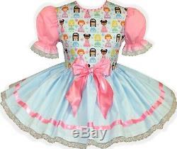 READY 2 WEAR Blue Princess PINK Adult Baby Sissy Girl HALLOWEEN Dress LEANNE