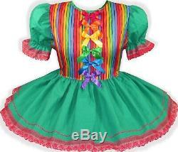 READY 2 WEAR Cute RAINBOW Gay Pride Adult Baby Sissy Little Girl Dress LEANNE