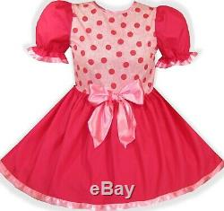 READY 2 WEAR PINK Dots HALLOWEEN Costume Adult Baby Sissy Girl Dress LEANNE