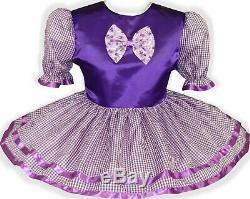 READY 2 WEAR Purple GINGHAM Bow Adult Baby Sissy Girl HALLOWEEN Dress LEANNE