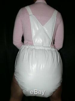 S47Adult Baby Sissy stuffed PVC Spreading diaper Spreizhose S-XL