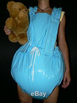 S52Adult Baby Sissy stuffed PVC Spreading diaper Spreizhose S-XL
