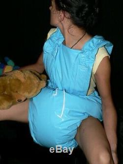 S92Adult Baby Sissy stuffed PVC Spreading diaper Spreizhose S-XL