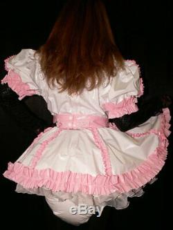 SH3Adult Baby Sissy pvc dress with sewn in diaper pantykleid & Spreizhose