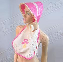 SISSY LATEX FRILLED BONNET Rubber Gummi Adult Baby ABDL TV/CD/Transvestite