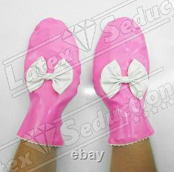 SISSY MAID LATEX MITTENS Rubber Gummi Gloves Adult Baby ABDL