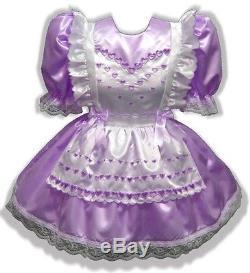 Sasha CUSTOM FIT HEARTS Adult Baby Sissy Little Girl Dress Pinafore LEANNE