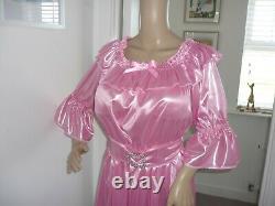 Sexy Sissy Slippy Shimmering Pink Off Shoulder Dress Adult Baby Cdtv Handmade