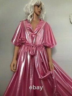 Shimmering Long Pink Jumpsuit, Sissy, CD, TV, Adult Baby Cosplay, Unisex