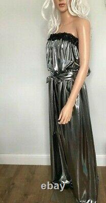Shimmering Long Silver Jumpsuit, Sissy, CD, TV, Adult Baby Cosplay, Unisex