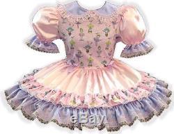 Shirley Custom Fit SATIN Fairy Kei Adult Little Girl Baby Sissy Dress LEANNE