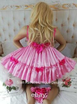 Sian Ravelle LUXURY SISSY SEXY ADULT BABY DOLL BRA DRESS & FRILLY KNICKERS