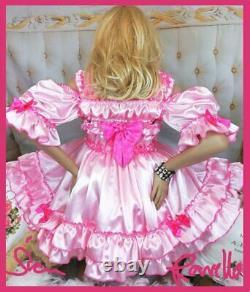 Sian Ravelle SISSY ADULT BABY PINK CROSSDRESSER COSPLAY DRAG TRANNY SEXY DRESS