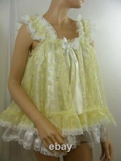 Sissy ADULT baby dress ddlg babydoll negligee nightie fancydress cosplay lolita