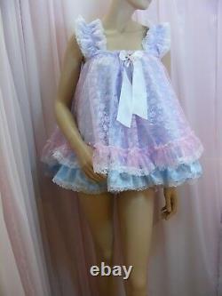 Sissy ADULT baby dress satin ddlg babydoll negligee nightie fancydress lolita