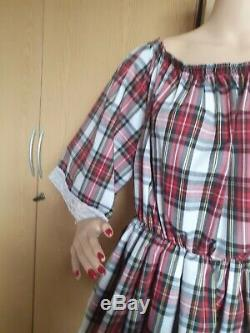 Sissy, Adult Baby, Dress Diaper Lover, ABDL, Tartan, Checked, check