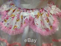 Sissy Maid Adult Baby Fetish Cd/tv Mincing Prissy Lockable Dress