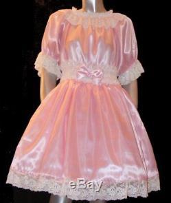 Sissy Maid Babykleid rose Satin adult baby