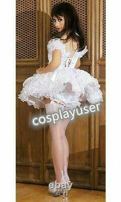 Sissy maid adult baby neuter CD/ TV pink satin and organza Free shipping