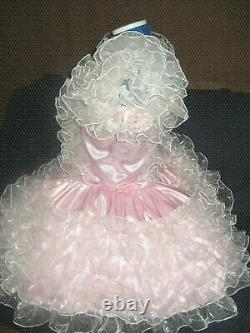 Sissy maid adult baby neuter CD/ TV pink satin and organza frilly dress &