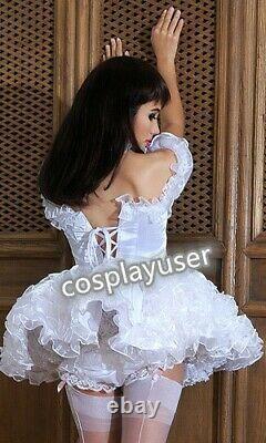 Sissy maid adult baby neuter CD/ TV satin and organza