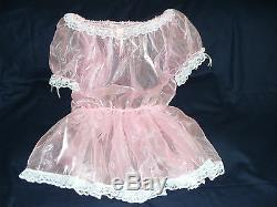 Sissymaids Adult Babyunisexfetish Cd/tv Pink Organza & Lace Dress