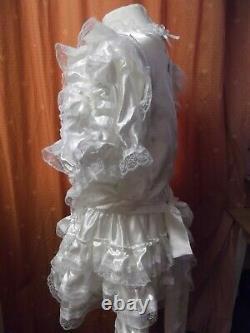 Sissymaidsadult Babyunisexcd/tv Ivory Satin And White Lace Dress
