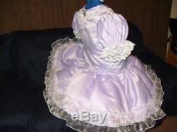 Sissymaidsadult Babyunisexcd/tv Lilac Satin & White Lace & Organza Dress Set