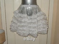 Sissymaidsadult Babyunisexcd/tv Organza Ruffle & Lace Petticoat