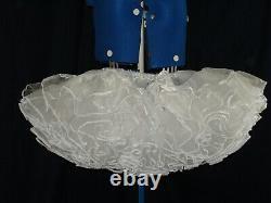 Sissymaidsadult Babyunisexcd/tv White Super Fluffy Organza Petticoat Lg
